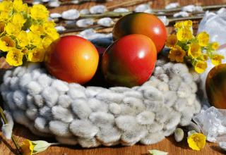 Pomalowane jajka wielkanocne