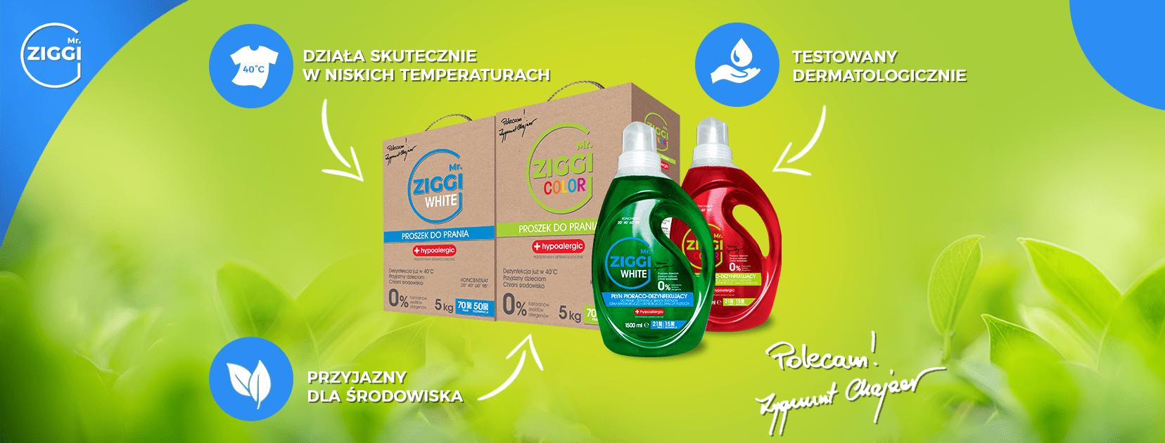 Ekologiczne środki do prania Mr. ZIGGI